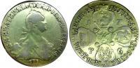 10 рублей 1776 года, СПБ-TI. Золото, 12,78 г. Сохранность VF