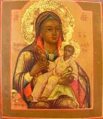 Козельщанская Икона Божией Матери.Дерево, левкас, темпера. 1