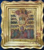 Икона в раме от киота Образ всех святых в веках богу угодив