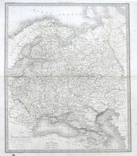 Карта Европейской России Carte de la Russie d`Europe. состав