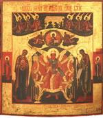 Икона Образ Софии Премудрость Слова Божие. Дерево, левкас,
