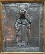 Икона в окладе Святой Феодосий Черниговский. Дерево, масло