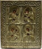 Икона четырехчастная: Пресвятая Богородица Утоли мои печали
