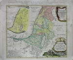 Карта Палестины. Печать, разделка акварельными красками. коп