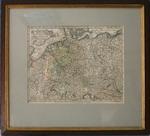Карта Западной Европы Imperio Romano Germanicum в паспарту