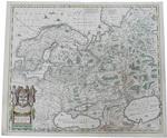 Карта России и Скандинавии Novissima Russiae Tabula. Author