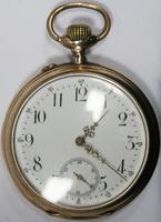 Часы карманные 2х-крышечные с арабским и секундным циферблат