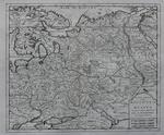 Карта Московии-России Nuova Carta della Moscovia o Russia.