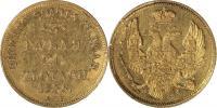3 Рубля-20 Zlote 1836 г. СПБ-ПД. Золото, 3,90 гр. Состояние