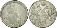1 рубль 1732 года , Серебро 25,45 гр. С брошью на груди. Кре