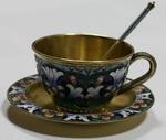 Набор кофейный из трех предметов: чашка с блюдцем и ложечкой