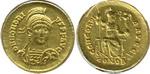 Солид. Римская Империя. Константинополь. Гонорий(395-423). З