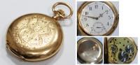 Часы карманные 3х-крышечные с минутным и секундным арабским