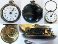 Карманные двухкрышечные часы в  футляре из морской черепахи.