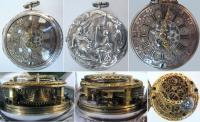 Карманные двухкрышечные часы Weldon в серебряном футляре .
