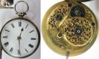 Карманные двухкрышечные часы Willaim Dunant в серебряном ф