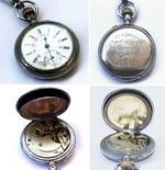 Часы карманные двукрышечные Longines c эмалевым циферблато