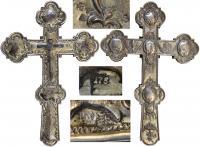 Крест благословенный c изображением евангельских сцен. Сер