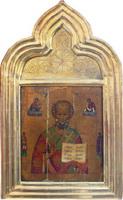 Икона Святой Николай Чудотворец с приписными святыми Евдокие