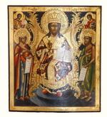 Икона Спас на Троне. Дерево (липа), холст, левкас, темпера