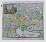 Карта Украины, земли козаков, с соседними провиницями Валахи