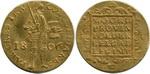 Дукат 1806 г. Голландия.  Золото, 3,47 гр. Состояние VF+