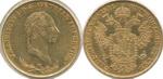 Соврано 1831 г. Австрия. Франц II (1792-1835).  Золото, 11,3