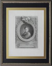 Иоганн Фридрих Bause (1738 - 1814). Гравюра Портрет Готфрид