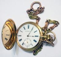 Часы карманные HY MOZER & CIE. №116758. Золото, диаметр 50