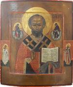 Икона Святой Николай Чудотворец с приписными Св. Ангелом Хр