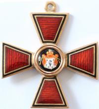 Знак Ордена Святого Владимира 4 степени, IK. Фирма Юлия Кейб