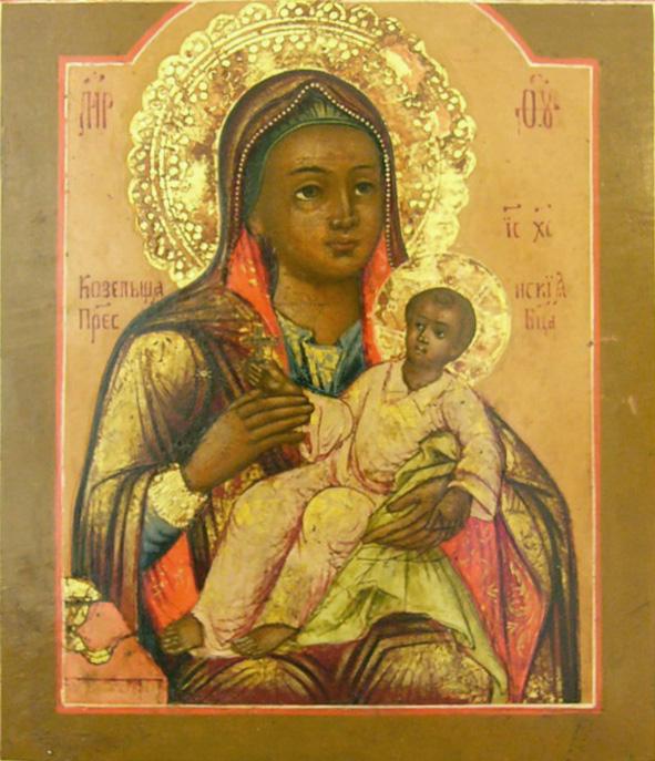 Козельщанская икона Пресвятой Богородицы. Первая треть XIX века.